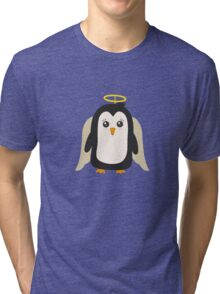 Penguin Angel   Tri-blend T-Shirt