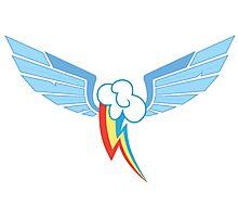 Rainbow Dash Symbol Photographic Print
