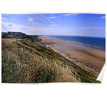 Saltburn on Sea, from the Cleveland Way Trail, North North Yorkshire, England/ Poster