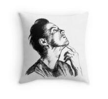 Andrew Scott Scribble Throw Pillow