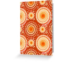 Starbursts and Pinwheels, Mandarin Orange Greeting Card