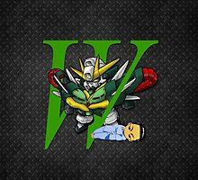 Chang Wufei and Altron Gundam - Chibilette by coffeewatson