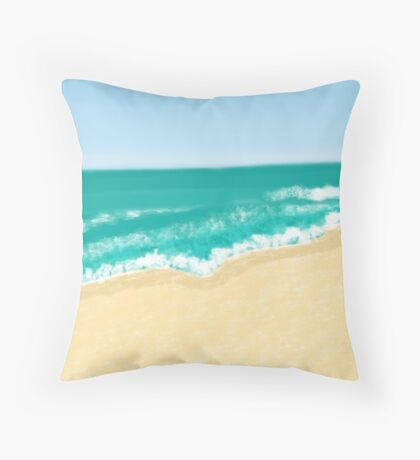 caribbean ocean Throw Pillow