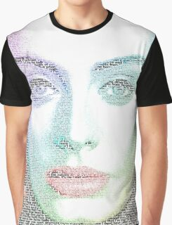 Adele (with lyrics from 'Hello') Graphic T-Shirt