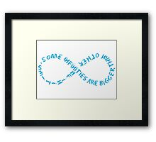 Some Infinities.... Framed Print