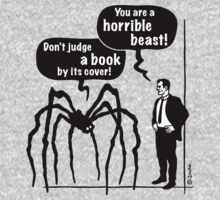 Cartoon: Horrible Beast / Don't judge a book by its cover! by MrFaulbaum