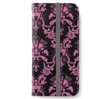Cosmic Damask Pink on Black iPhone Wallet/Case/Skin