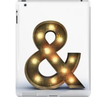 & letter alphabet marquee light iPad Case/Skin
