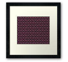 Cosmic Damask Pink on Black Framed Print