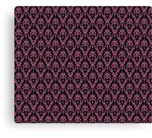 Cosmic Damask Pink on Black Canvas Print