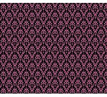 Cosmic Damask Pink on Black Photographic Print