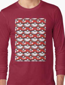 Pokeball Collage Long Sleeve T-Shirt