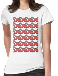 Pokeball Collage Womens Fitted T-Shirt