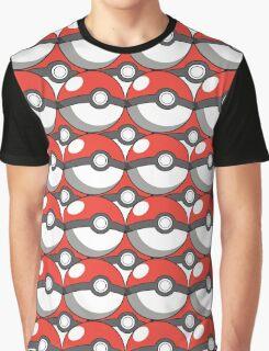 Pokeball Collage Graphic T-Shirt