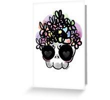 Flower Crown Skull  Greeting Card