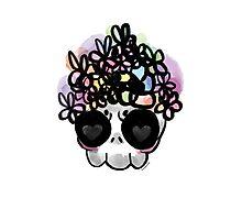 Flower Crown Skull  Photographic Print