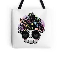 Flower Crown Skull  Tote Bag