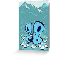 blue mountain butterfly Greeting Card