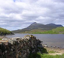 Loch Assynt Beside Ardvreck Castle by lezvee