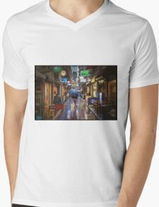 Rainy Day Mens V-Neck T-Shirt