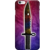 Counterstrike Global Offensive : M9 Bayonet Marble Fade Knife iPhone Case/Skin