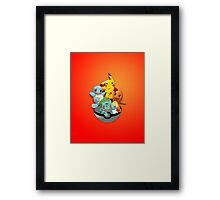 First Generation Pokemon Framed Print