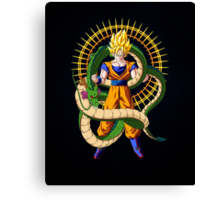 Shenron X Son Goku Canvas Print