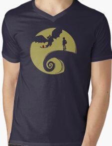 Dragon Nightmare Mens V-Neck T-Shirt