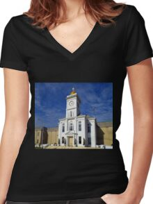 Jefferson County Courthouse Women's Fitted V-Neck T-Shirt