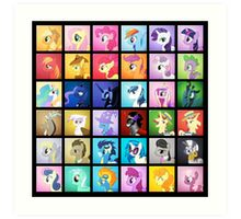 Pony Blocks Art Print