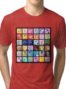 Pony Blocks Tri-blend T-Shirt