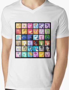 Pony Blocks Mens V-Neck T-Shirt