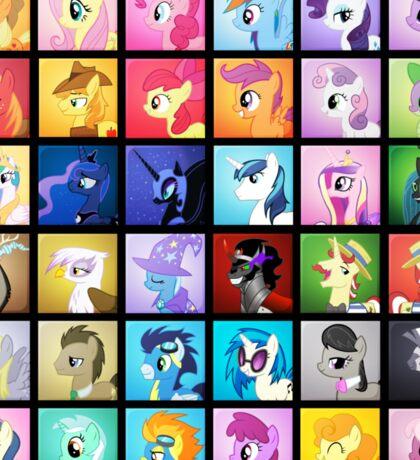 Pony Blocks Sticker