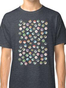 Pokeball Variants Scatter Pattern Classic T-Shirt