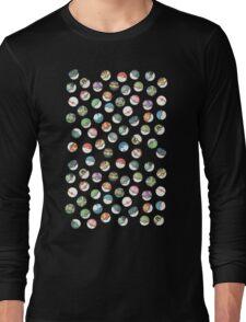 Pokeball Variants Scatter Pattern Long Sleeve T-Shirt