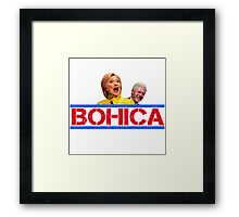 Hillary and Bill Clinton - BOHICA for 2016! Framed Print