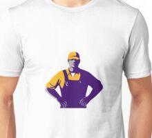 Organic Farmer Overalls Akimbo Retro Unisex T-Shirt