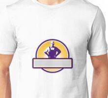 Organic Farmer Akimbo Sunburst Circle Retro Unisex T-Shirt