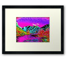 Look Gods Watching you in Color Framed Print