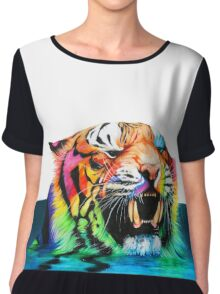 """That's some acid tiger shit'' Chiffon Top"