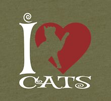 I Love Cats Tri-blend T-Shirt