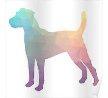 Parson Terrier - Colorful Geometric Pattern - Pastel Poster