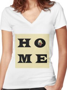 """I Love You"" HOME Women's Fitted V-Neck T-Shirt"