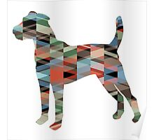 Parson Terrier - Colorful Geometric Pattern - Plaid Poster