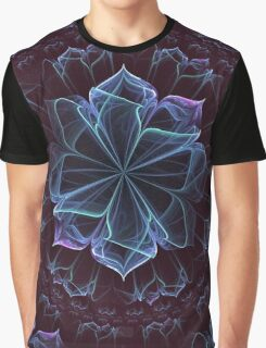 Ornate Blossom in Cool Blues Graphic T-Shirt