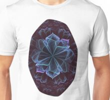 Ornate Blossom in Cool Blues Unisex T-Shirt