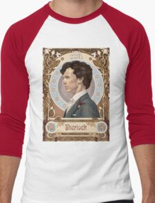 Sherlock Art Nouveau Men's Baseball ¾ T-Shirt