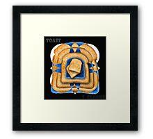 Toast Mandala Framed Print
