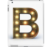 B letter alphabet marquee light iPad Case/Skin