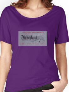 Vintage Theme Park Ticket, 1st Entry ticket - Grey Women's Relaxed Fit T-Shirt